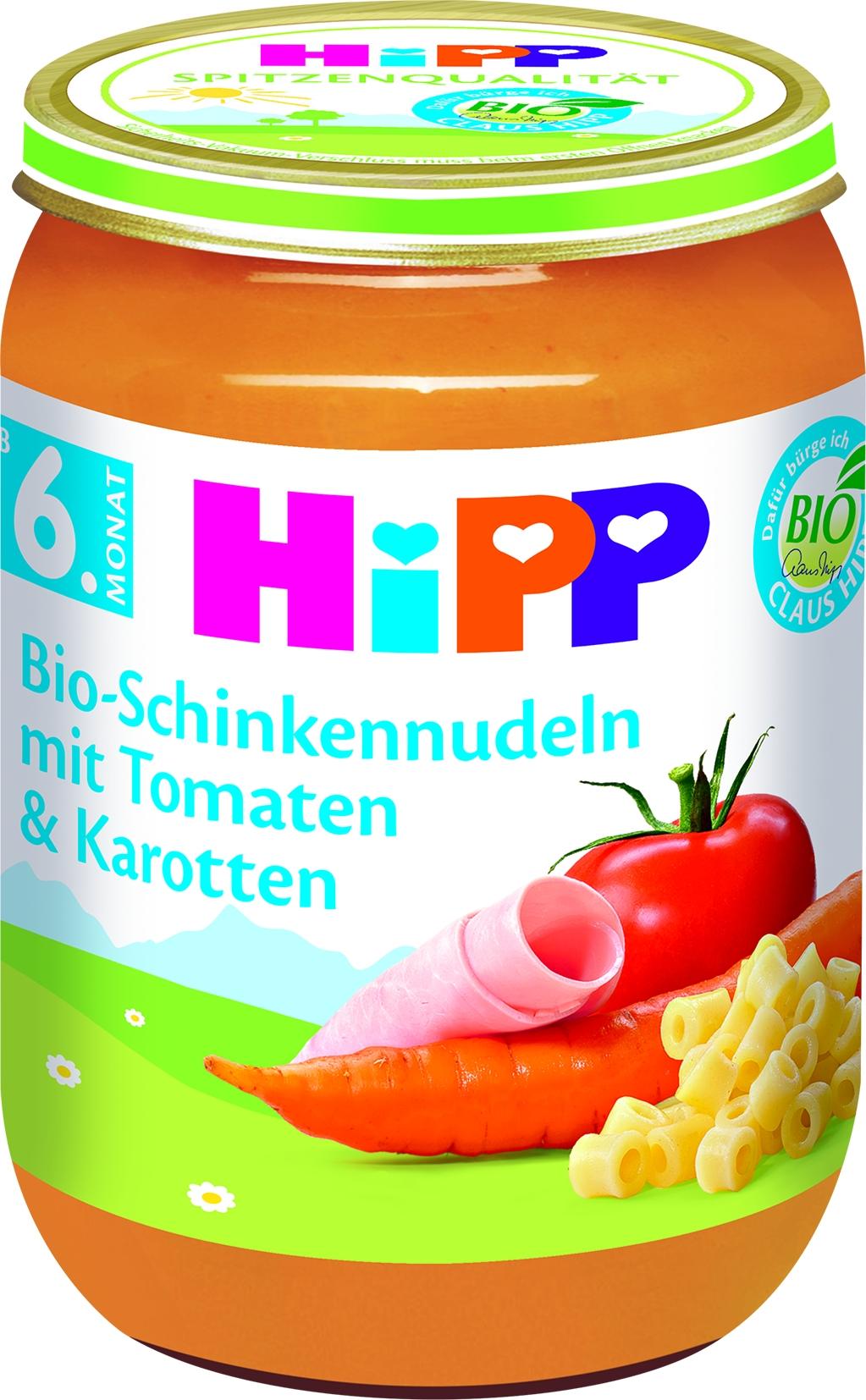 Bio 6210 Schinkennudeln m.Tomate/Karotte