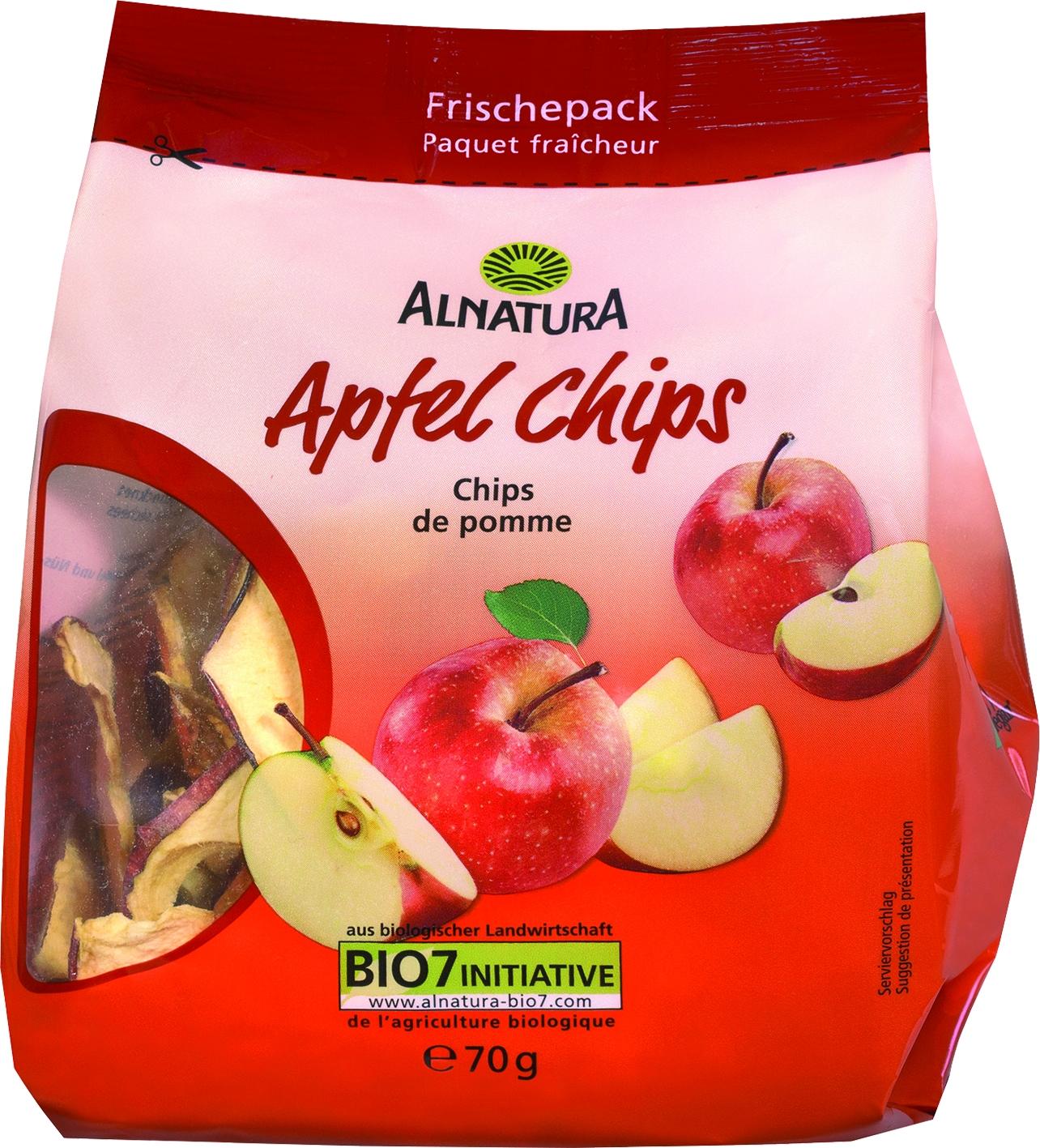 Apfel Chips getrocknet