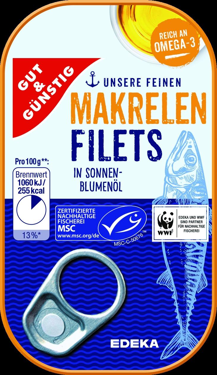 Makrelenfilet in Oel