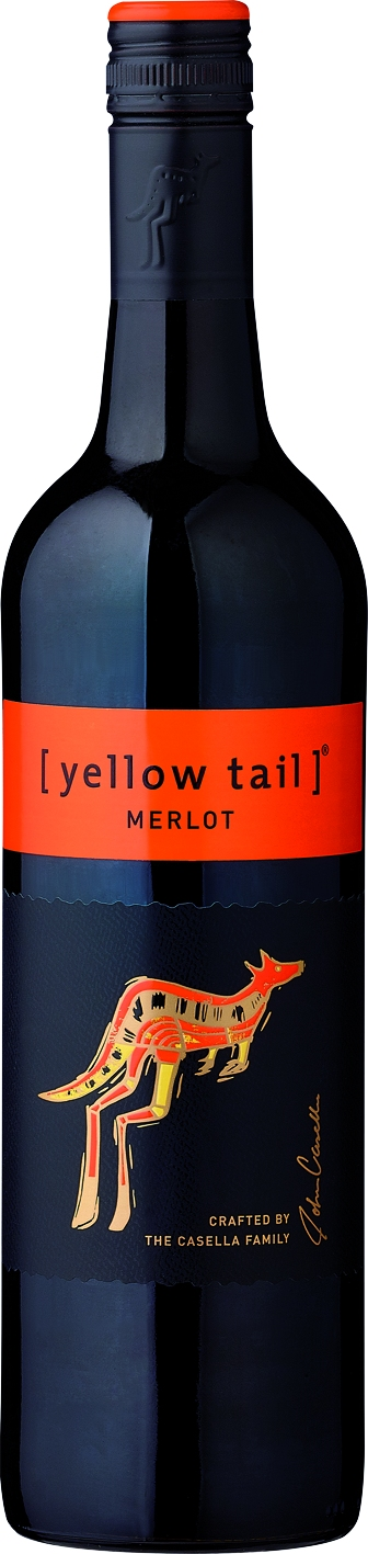 Yellow Tail, Merlot, red