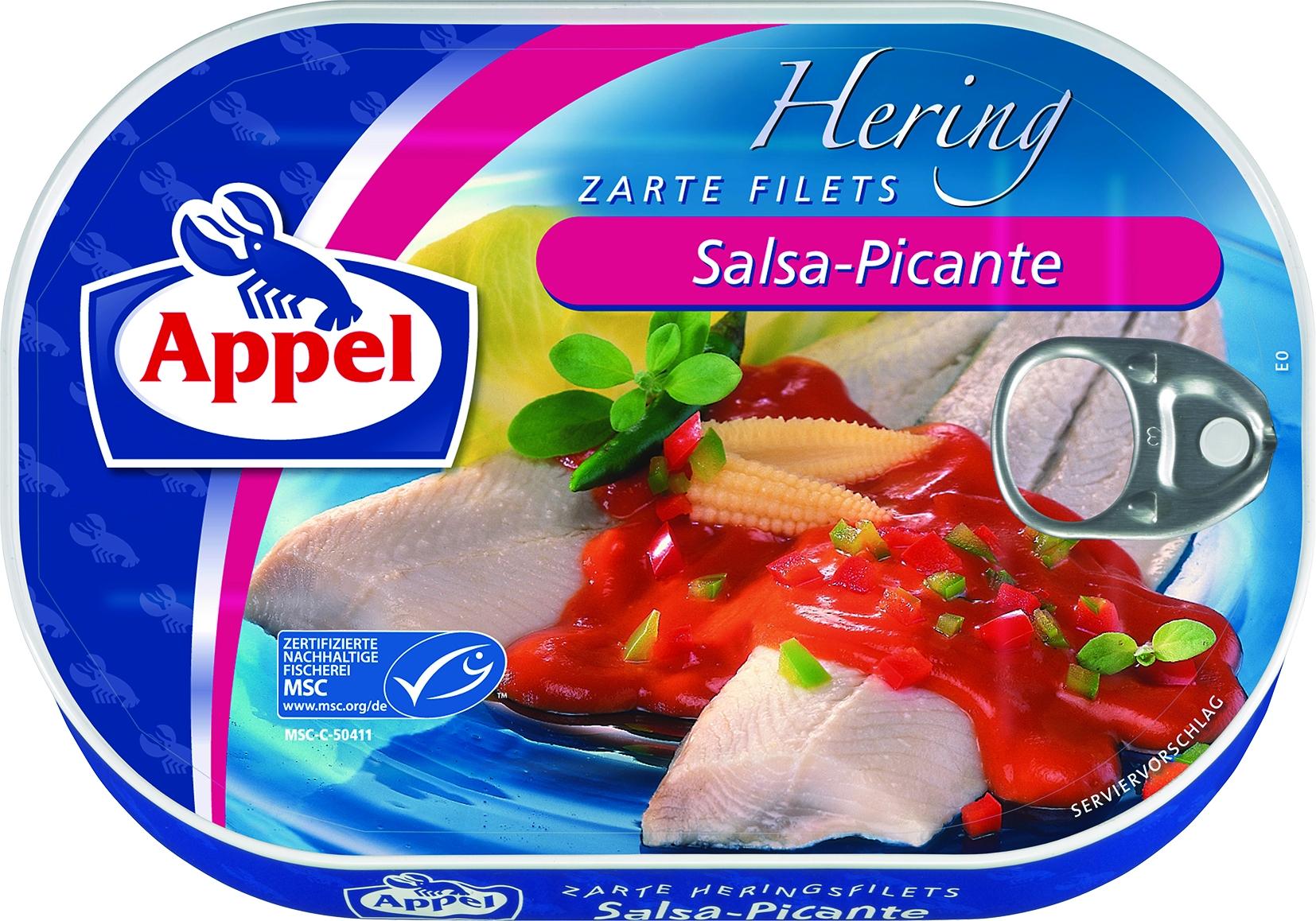 Heringsfilet Salsa-Picante