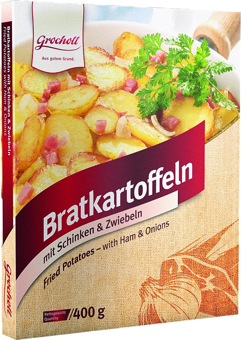 Bratkartoffeln mit Zwiebeln+Schinken