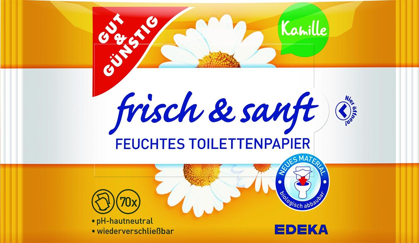 Feuchtes Toilettenpapier NF 2x70er