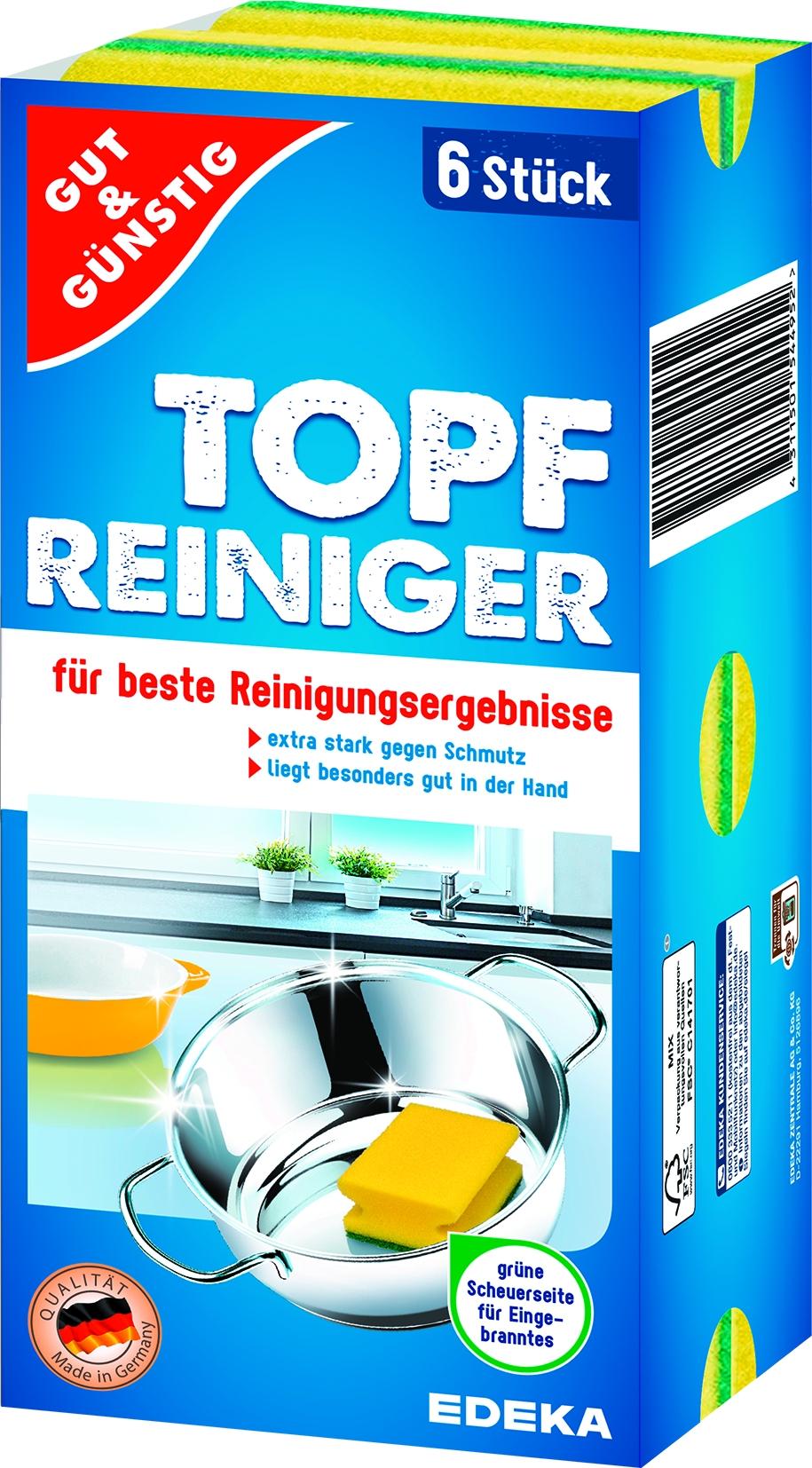 Edelstahl Topfreiniger 6er