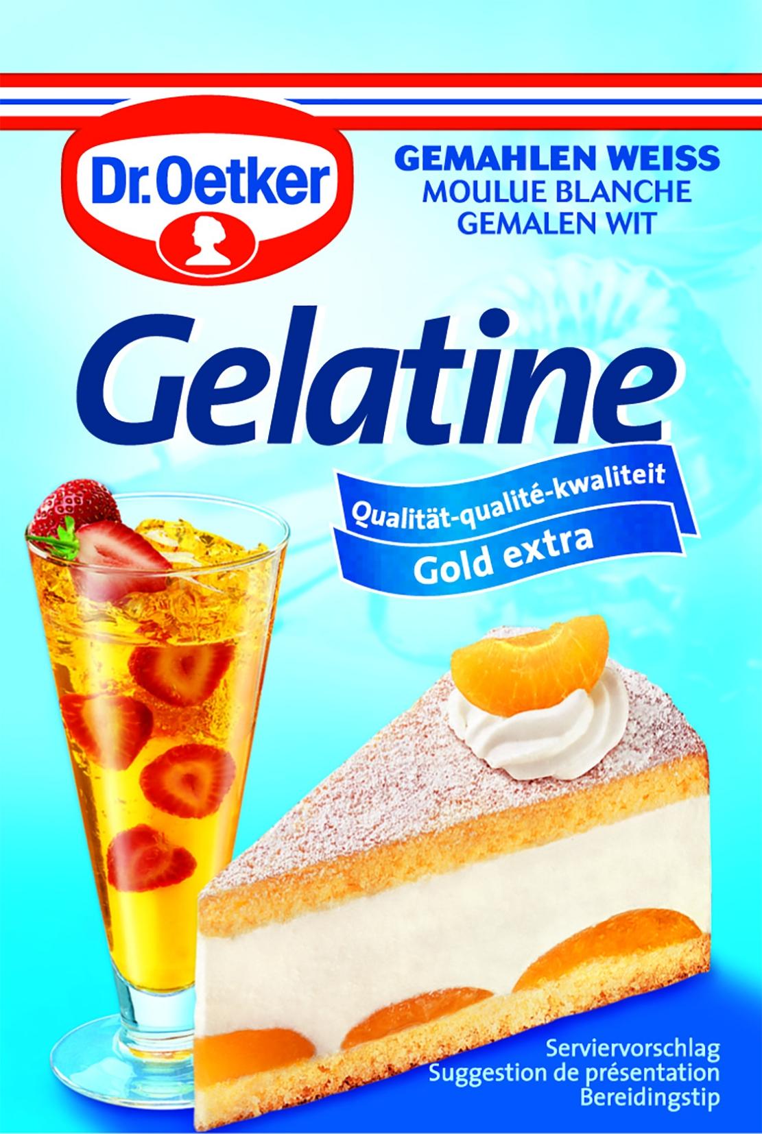 Gelatine gemahlen, weiss, 3er
