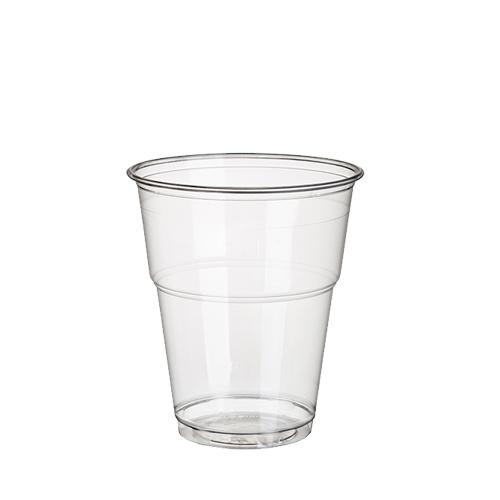 """Getränkebecher, 70 St., PLA, """"pure"""", 0,3L, glasklar mit Schaumrand"""