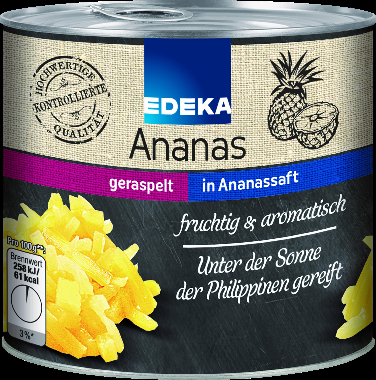 Ananas geraspelt