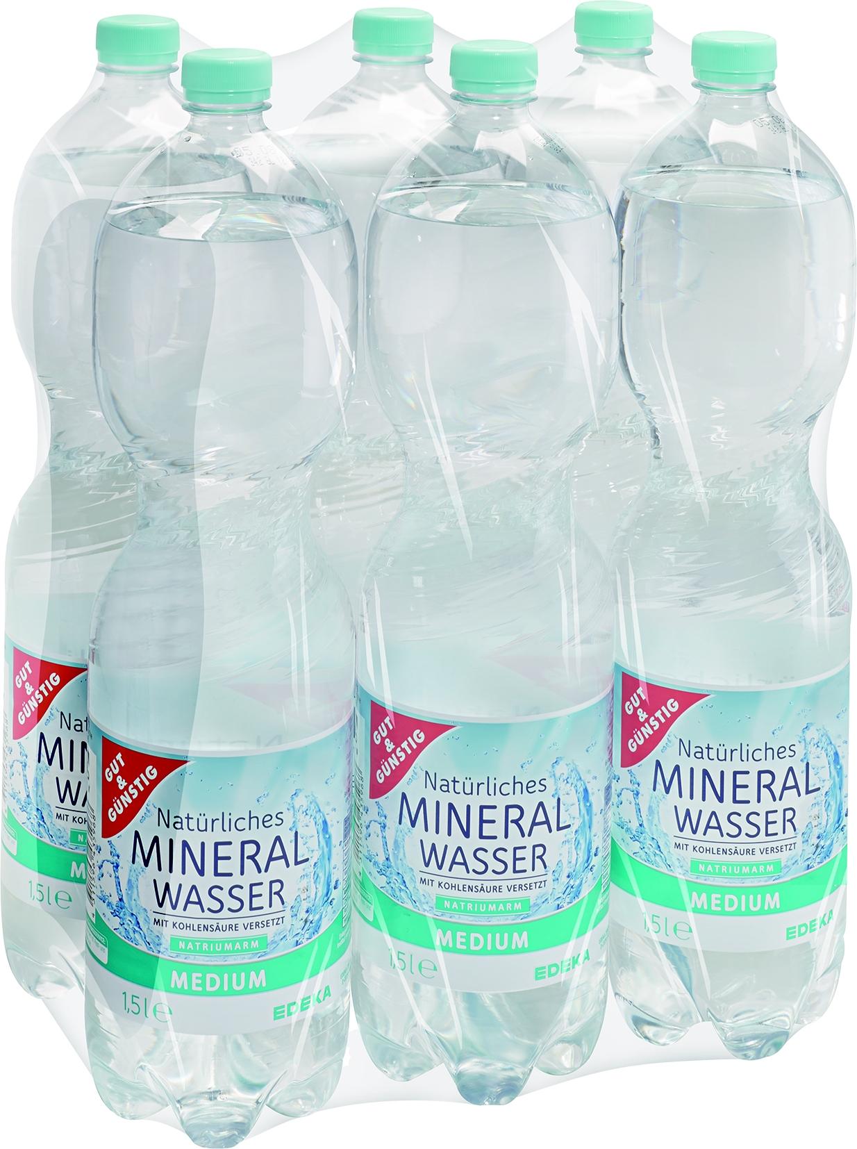 Mineralwasser Medium PET