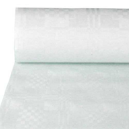 Papiertischtuch mit Präg., weiß, 100x1 m