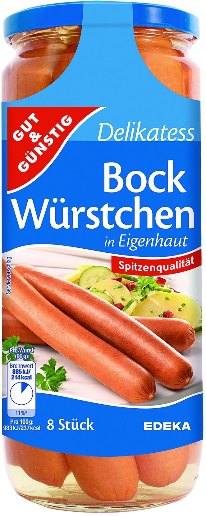 Bockwurst in Eigenhaut 8 St= 720 gr