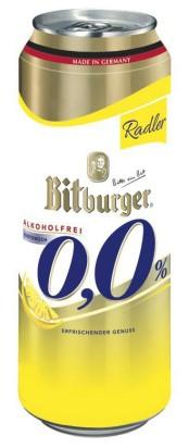 Bitburger Radler 0,0% alkoholfrei 24 Ds x 0,50ltr