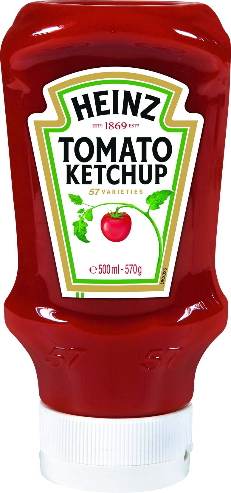 Tomaten Ketchup Kopfstandflasche