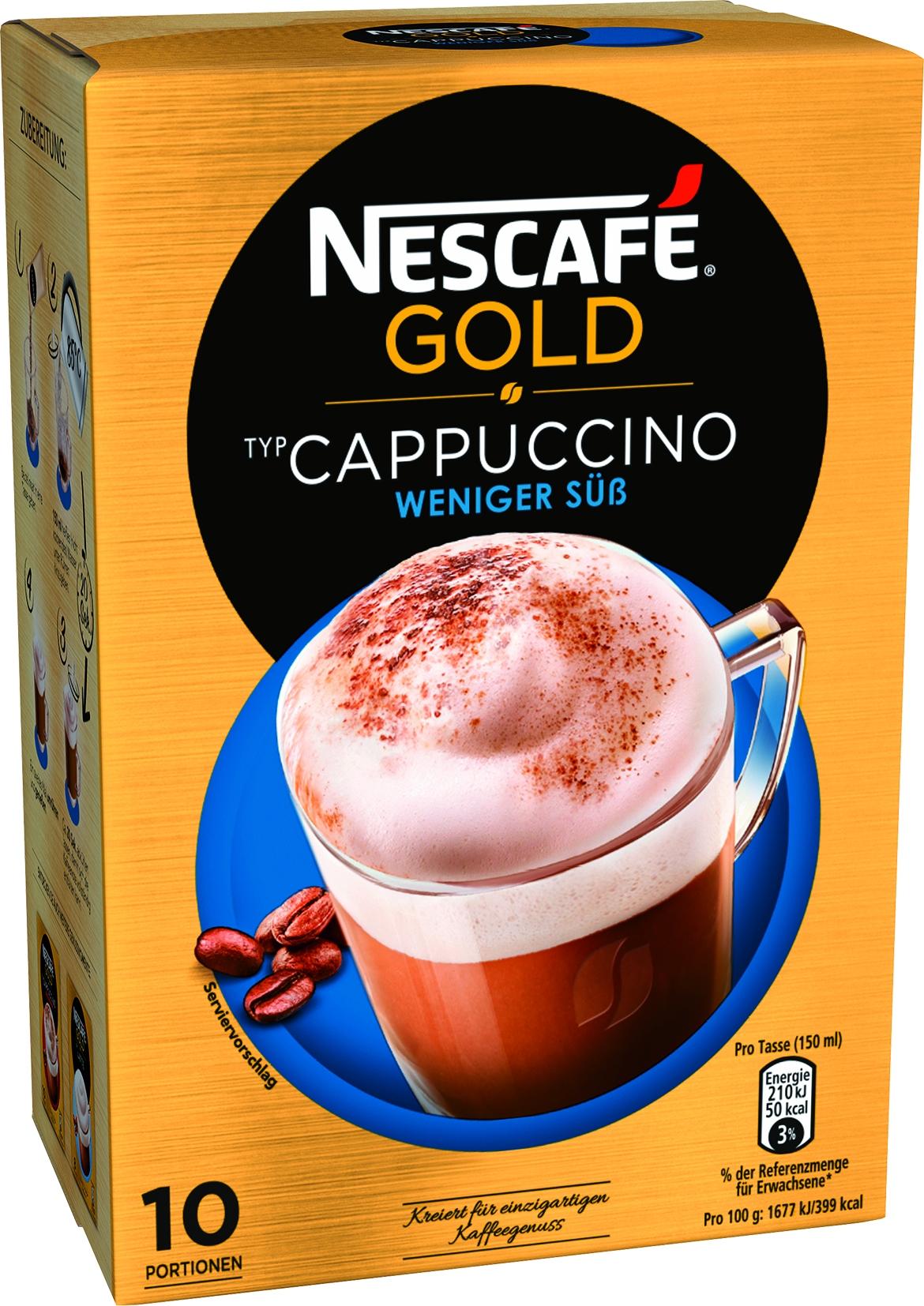 Cappuccino weniger süß 10x12,5gr