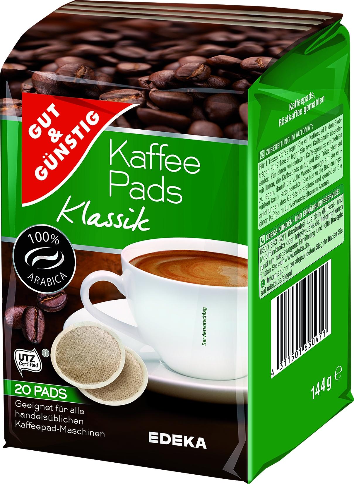 Kaffee Pads Klassik