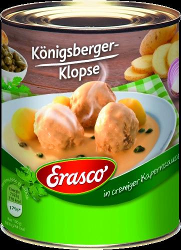 6 Koenigsberger Klopse in Kapernsauce