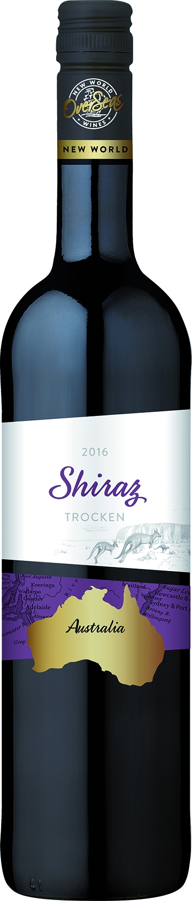 Over Seas Australia Shiraz, dry, red