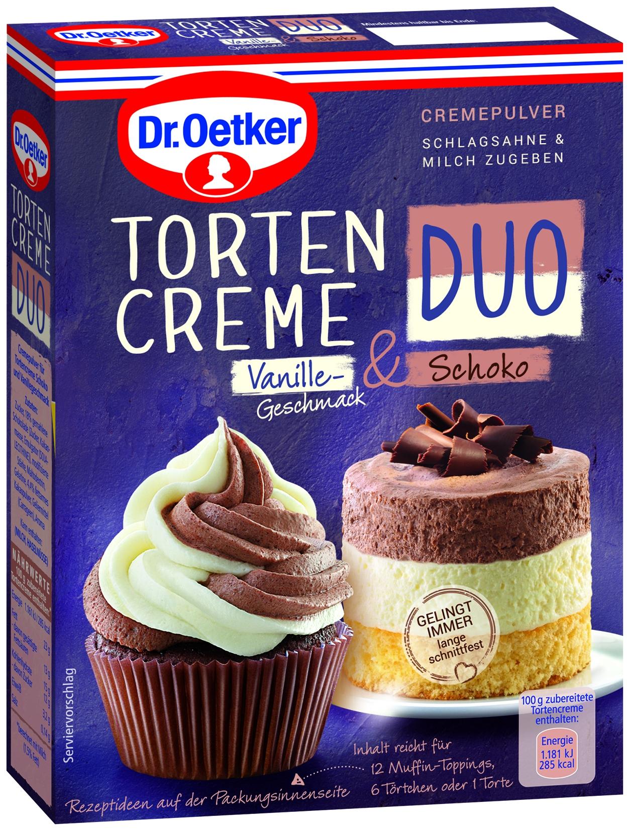 Tortencreme Duo Vanille & Schoko