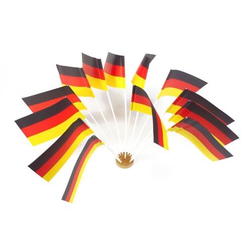 Flagge Deutschland,Papier, 12x22cm, 10er