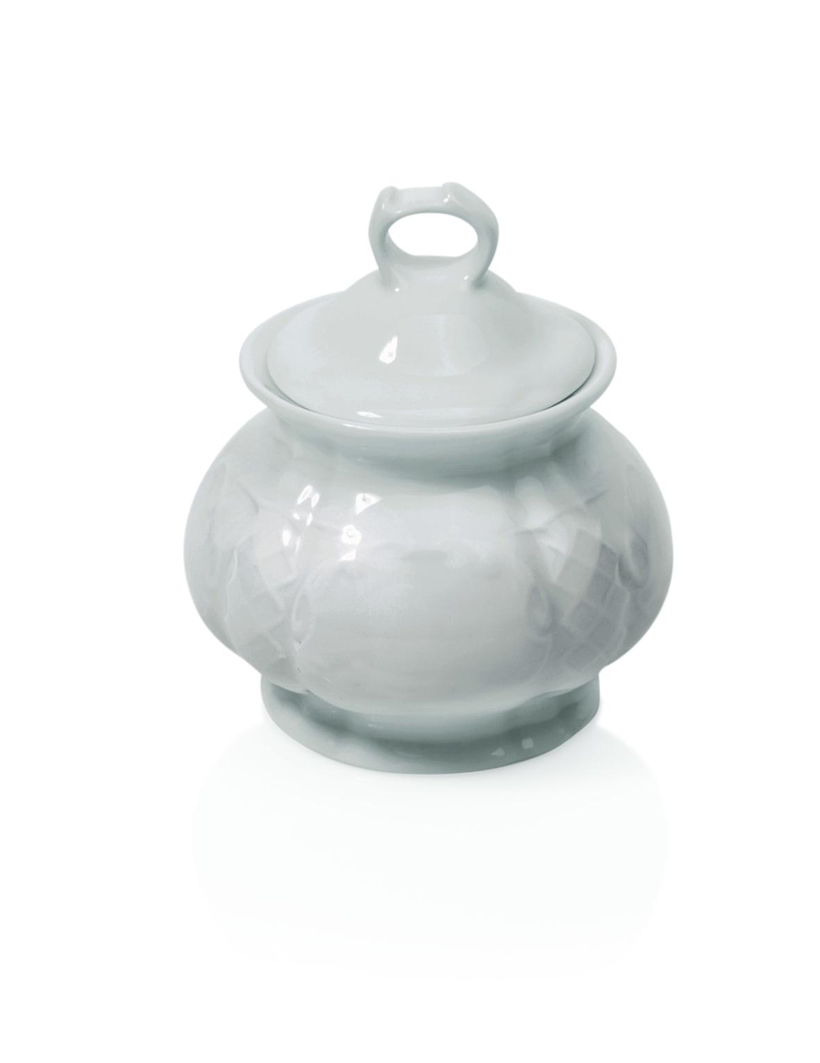 Zuckerdose aus Porzellan mit Deckel 0,25 ltr