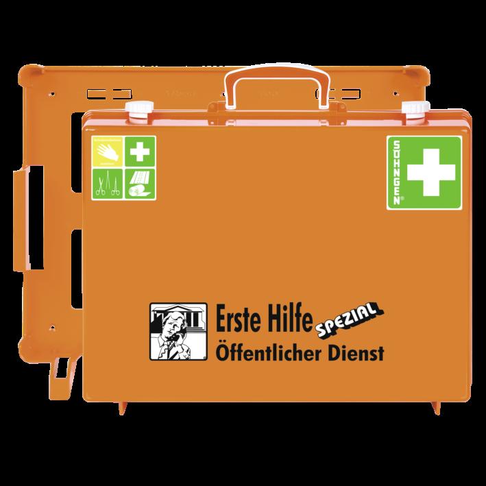 Erste-Hilfe-Koffer ÖFFENTLICHER DIENST mit der Basis-Ausstattung nach der aktuellen DIN-Norm 13157