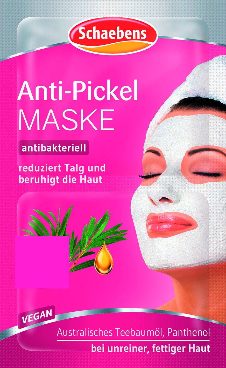 Gesichtsmaske Anti-Pickel 2x5ml