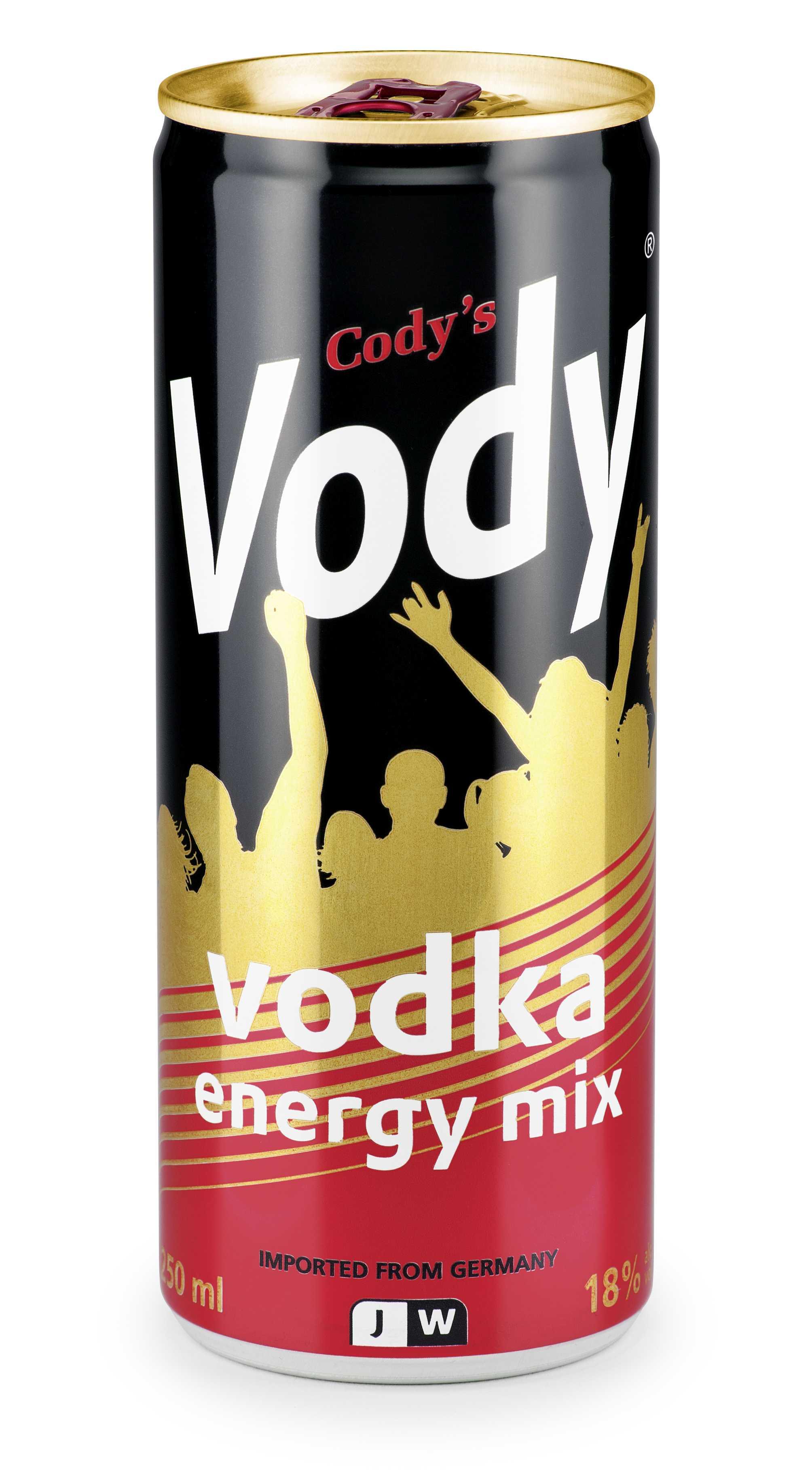 Cody´s Vody 24Ds x 0,25l - Energy-Vodka-Mix, 18%